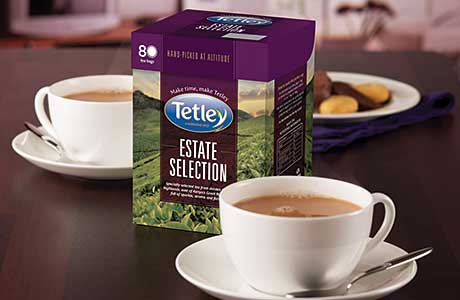 Interesting aim – new tea range, Tetley Estate Collection
