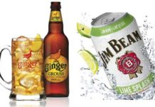 Ginger Grouse and Jim Beam Lime Splash, two ready-to-drink mixes designed to appeal to younger consumers.