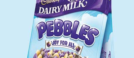Cadbury Dairy Milk in pebble dash – something new from Mondelez