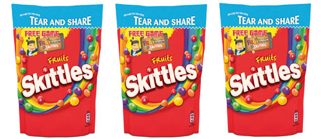 Skittles go ninja – Brand offers free download
