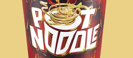 Brian the bearded chap, is back to promote new Piri-Piri Pot Noodle