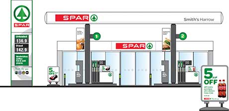 Spar forecourt push begins