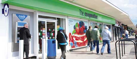 Food sales slip at bank woe Co-op