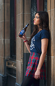 Dreaming of home – Miss Scotland Jamey Bowers and Inveralmond's offical Homecoming beer