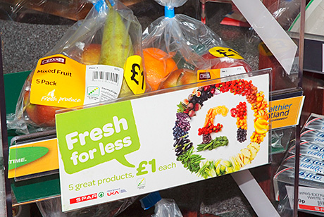 Fresh cakes at the checkout have been selling well but Polbeth Service Station also has a Healthy Living promotional stand and the store donated bags of fruit to two local primary schools and a nursery school just before Christmas.