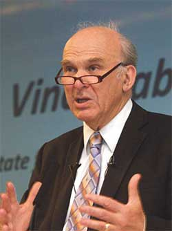 Business secretary Vince Cable, still to decide on NMW.