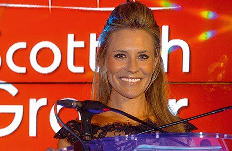 TV presenter Georgie Thompson gets the Scottish Grocer Awards 2014 under way at Glasgow's Hilton Hotel.