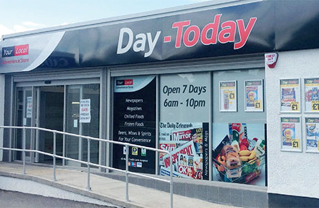 Day-Today now offers a range of fascia options including the black fascia designed for large, high-turnover stores.