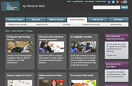 Find out all you need to know about Individual Learning Accounts and check whether you qualify for the job-related training grant at www.myworldofwork.co.uk/section/funding