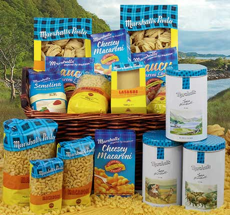 Marshalls pasta range, represented by Glasgow-based Brand Associates, is sold predominantly in Scotland.