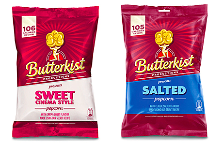 Butterkist's new bags highlight calorie count