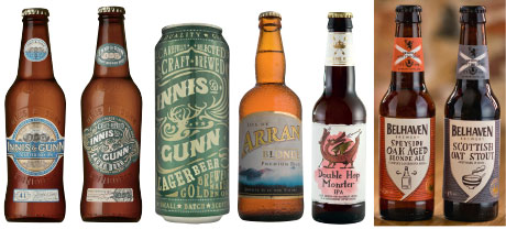 Innis & Gunn Toasted Oak IPA (5.6%) is a triple-hop-infused brew matured for 41 days over toasted American oak heartwood chips. Innis & Gunn Lager (4.6%) is an unoaked Helles-style lager available in 330ml bottles and 500ml cans. Arran Blonde is an award-winning ale from the Arran Brewery. The brewery is currently investing and has plans to grow in international markets. Specialist beers from Greene King include Greene King Double Hop Monster IPA and the range of Belhaven specialist beers including Speyside Oak-aged Blonde Ale and Scottish Oat Stout.