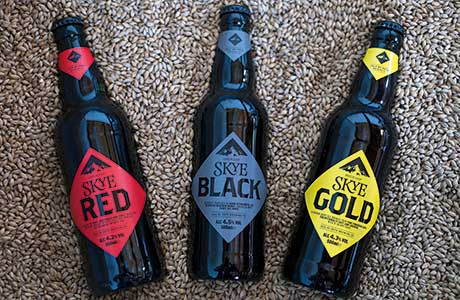 Isle of Skye Brewing Company recently underwent a full rebrand. The beers were given a complete image overhaul and new packaging. The names were also simplified: Red Cuillin has become Skye Red, Black Cuillin became Skye Black, and Hebridean Gold became Skye Gold.