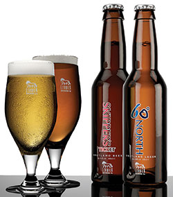 Its beers include red ale Skippers Ticket and pilsner lager 60ºNorth