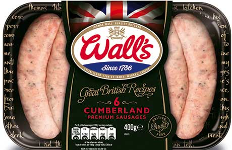 Wall's range includes new British recipe sausages.