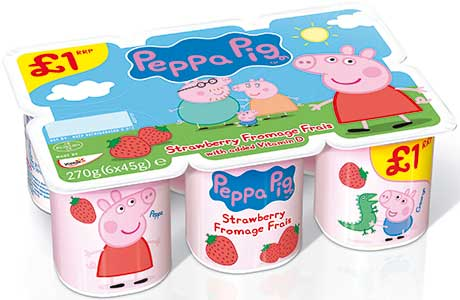 Yoplait quotes SIG research covering the year to December 2013 and says it has more than 57% of UK kids chilled yogurts and desserts sales and 65% in the convenience channel. Its best-performing lines are Wildlife Choobs £1 PMP, Peppa Pig £1 PMP and Petits Filous Strawberry & Raspberry. PMPs are available all year.
