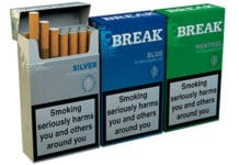 Break Little Cigars come in cigarette-style hard packets, price-marked and plain. A pack of 17 retails at £4.59.