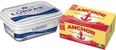 Anchor block butter is the biggest seller in the UK according to Kantar figures. The research company also measures Lurpak Spreadable, in 250g and 500g tubs, as the top two spreadable butters. Graham's says Kantar shows its block butter is the fastest-selling brand in Scotland.