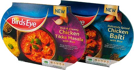 Birds Eye has added two new varieties to its revamped curry range.