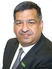 Abdul  Majid, new president of the Scottish Grocers' Federation.