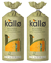 A muesli and yogurt-based breakfast on the go option, and a seed and buckwheet rice cake, are two of Kallo's new products for 2014.