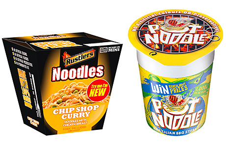 Rustler's Noodle Pot aims to be a chilled alternative to ambient snacks. Noodle snack market leader Pot Noodle has a new Brazilian-inspired variant.
