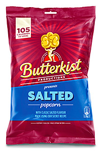 Butterkist has tweaked its packaging to flag up the calorie content of each pack.