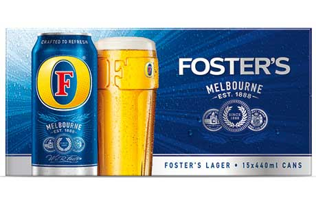 Foster's: the off-trade beer winner across the UK in the early part of the World Cup according  to Nielsen findings.