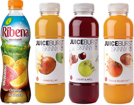 Ribena's Orange & Guava RTD is the company's response to the popularity of drinks that combine orange with another flavour. Juiceburst has a new range, Juiceburst Skinny, sweetened with stevia, that comes in at under 100 calories per bottle. Made with 80% fruit, it counts as one of five a day.