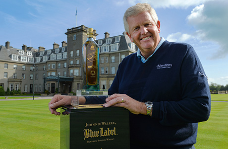 Ryder Cup legend Colin Montgomerie helped launch a very special Ryder Cup bottling of Johnnie Walker Blue Label.