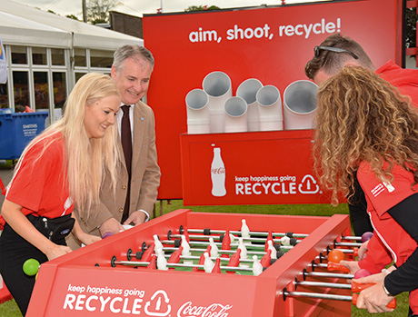 Cabinet secretary for rural affairs and environment, Richard Lochhead, joins in the fun at Happiness Recycled  at the Royal Highland Show last month.
