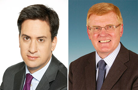 Labour leader Ed Miliband, above left, has committed a Labour government to a substantial increase in the national minimum wage. John Drummond SGF chief executive, above right, said convenience store retailers cannot afford constant increases in wages bills.