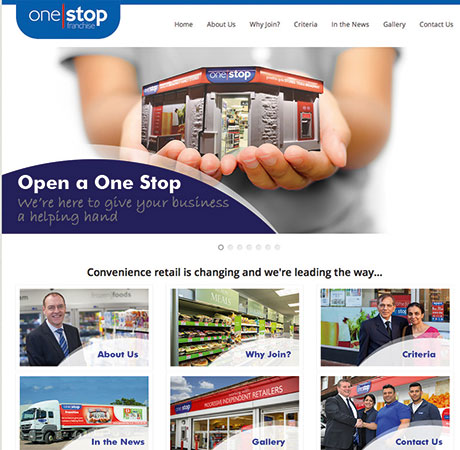 The One Stop Franchise website details the operation launched for England and Wales this year.