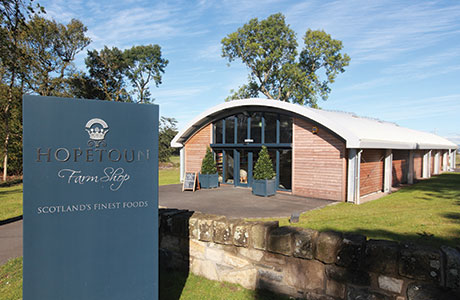 Hopetoun Farm Shop is locally sourcing 30% of its energy with 96 solar panels in a nearby field.