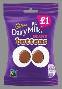 Cadbury Dairy Milk Giant Buttons bag PMP Feb 15