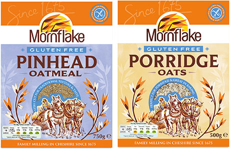 New gluten-free oats products from Mornflake.