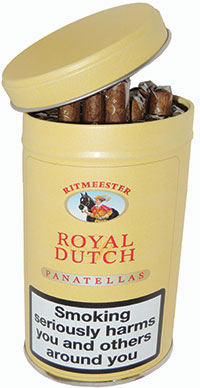 Royal Dutch single Panatellas launched by cigar firm Royal Dutch with an RRP of £1.