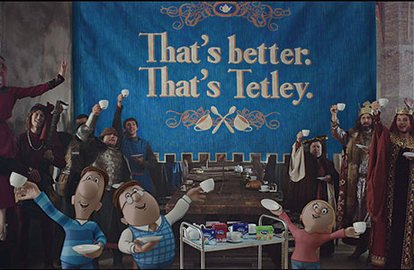 Tetley tea goes medieval
