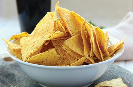 sh bowl of tortilla chips