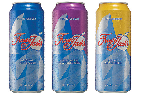 Frosty Jack's is now available in 500ml cans. And the brand has three variants: the original Frosty Jack's cider; a golden apple cider at 6% ABV; and a mixed berry flavoured fruit cider at 4% ABV.