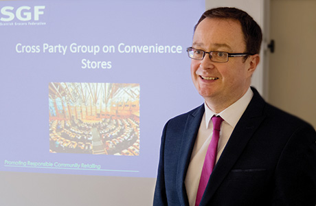 John Lee, policy and public affairs manager of the Scottish Grocers' Federation talks politics at the SGF Round Table.