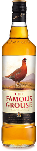 Overall, blended whisky sales were down. But market leader The Famous Grouse was well up in Scotland's off-trade.