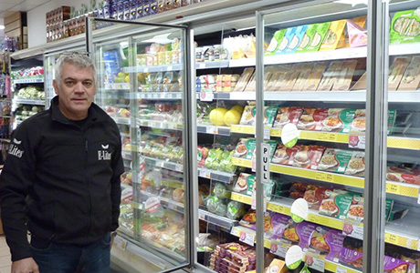 Londis retailer Barrie Seymour saw energy bills drop significantly after Delta Refrigeration retro-fitted doors to his chiller cabinets.