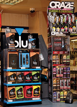 Most e-cigarette producers offer PoS materials designed to capture the attention of smokers when they approach the counter. With tobacco products now hidden from view that could become more important for retailers.