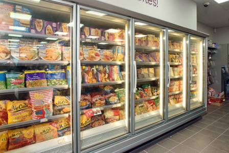 The freezer run at Shalamar Premier (top picture). The five-door facility has allowed the shop to stock and display a wider frozen range.