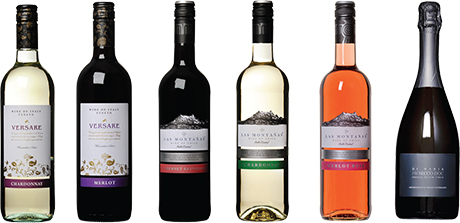 The growing wine range of Cellar Vino – including Versare, Italian wines, Las Montanas Chilean wines, and Di Maria Prosecco, represented by Brand Associates.