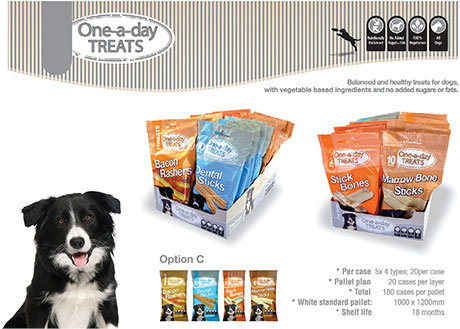 One-a-Day treats, a new pet treat range that's exclusive to c-stores and is represented by Brand Associates.