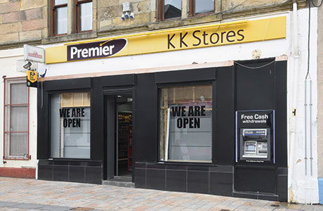 When Scottish Grocer visited KK Stores, the shop's exterior was still to undergo a final touch-up as part of its makeover. The ATM is the shop's first.