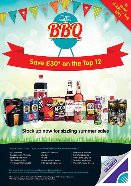 Landmark promo flyer  for July BBQ_Trade_Press_Ad