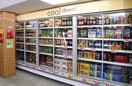 The store's new beer chiller has already helped boost sales of beer and cider.